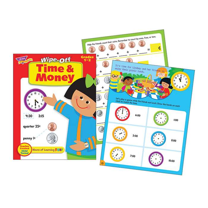 Time & Money Wipe-Off Book By Trend Enterprises