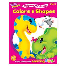 Colors & Shapes 28Pg Wipe-Off Books By Trend Enterprises