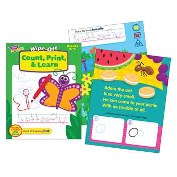 Count Print & Learn Wipe-Off Book 28Pg By Trend Enterprises