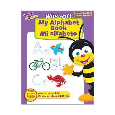 My Alpha Book Bilingual 28Pg Wipe-Off Books By Trend Enterprises
