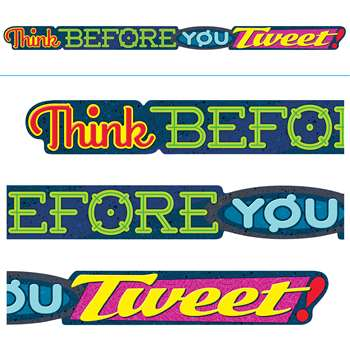 Think Before You Tweet Banner, T-A25218
