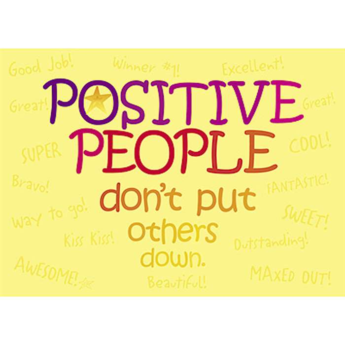 Poster Positive People Dont Put By Trend Enterprises
