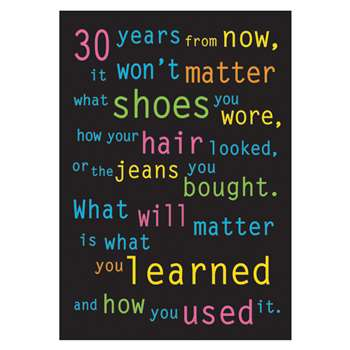 Poster 30 Years From Now 13 X 19 Large By Trend Enterprises
