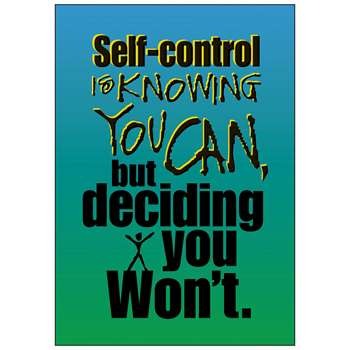 Poster Self-Control Is Knowing By Trend Enterprises