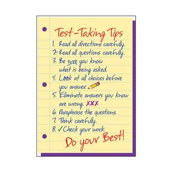 Poster Test-Taking Tips By Trend Enterprises