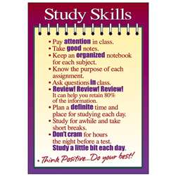 Poster Study Skills 13 X 19 Large By Trend Enterprises