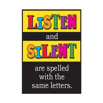 Poster Listen And Silent Are By Trend Enterprises