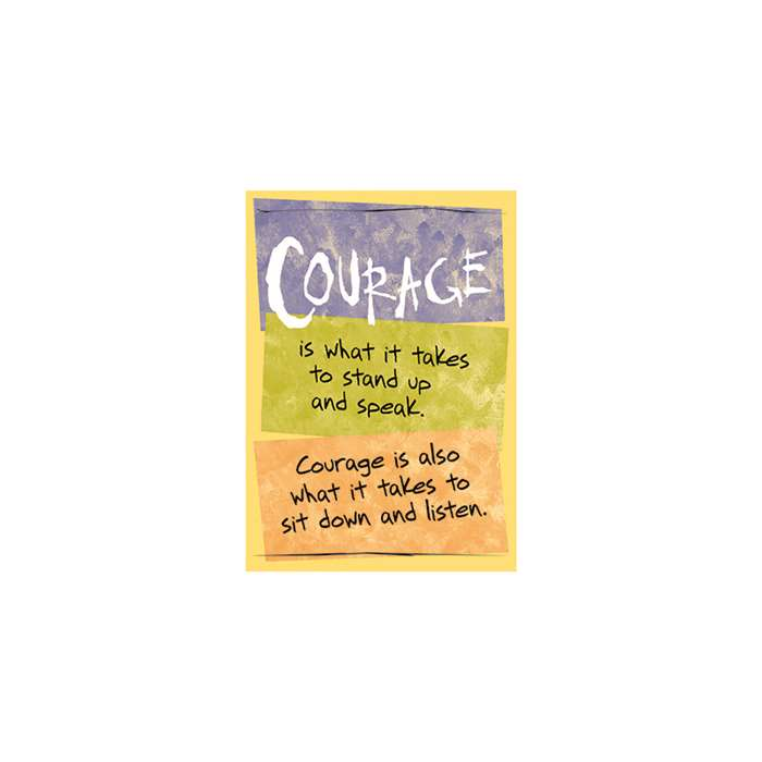 Poster Courage Is What It Takes By Trend Enterprises