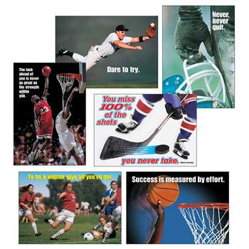 Sports Motivating Poster Pack By Trend Enterprises