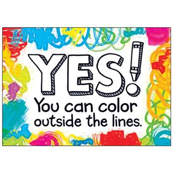 Shop Yes You Can Color Outside By Trend Enterprises