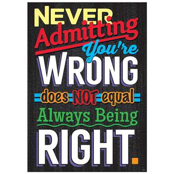 Never Admitting Youre Wrong Poster, T-A67049