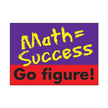 Poster Math = Success. Go Figure. By Trend Enterprises