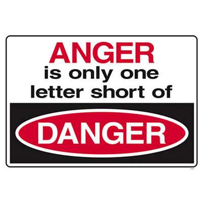 Anger Is Only Only One Letter Short Of Danger By Trend Enterprises