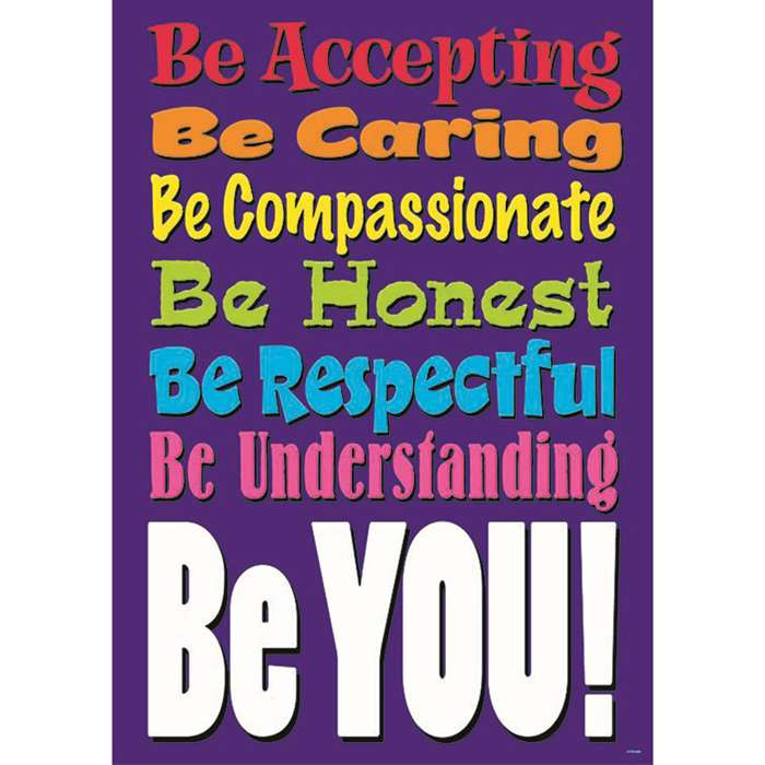 Be Accepting Be Caring Large Poster By Trend Enterprises