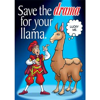 Save The Drama For Your Large Posters By Trend Enterprises