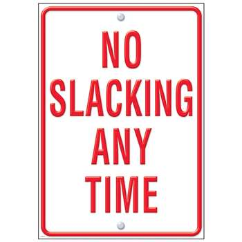 No Slacking Large Posters By Trend Enterprises