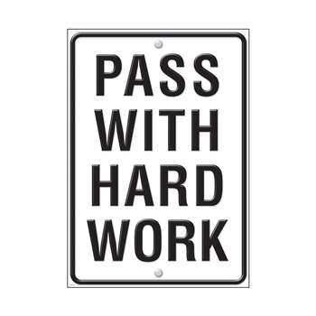 Pass With Hard Work Large Poster By Trend Enterprises