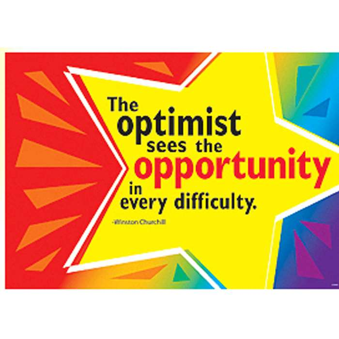 Poster The Optimist Sees The Opprtnty In Evry Diffclty Churchill By Trend Enterprises