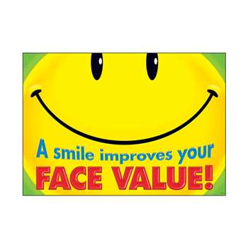 A Smile Improves Your Face Value Argus Large Poster By Trend Enterprises