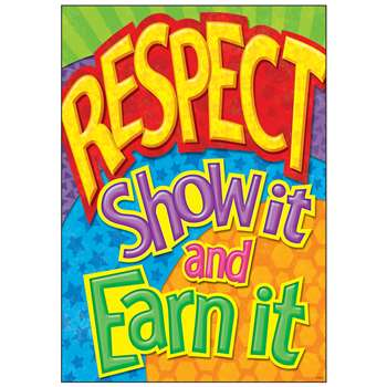Respect Show It And Earn It Argus Large Poster By Trend Enterprises