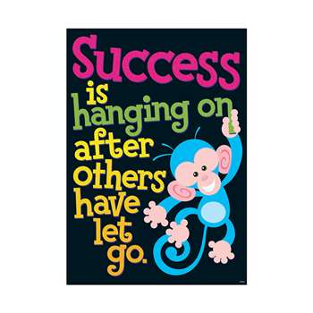 Success Is Hanging On After Others Have Let Go Argus Large Poster By Trend Enterprises