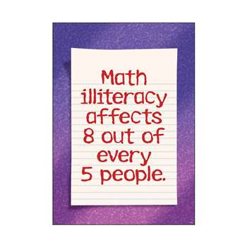 Math Illiteracy Affects 8 Out Of Every 5 People Argus Large Poster By Trend Enterprises