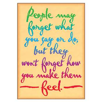 People May Forget What You Say Poster By Trend Enterprises