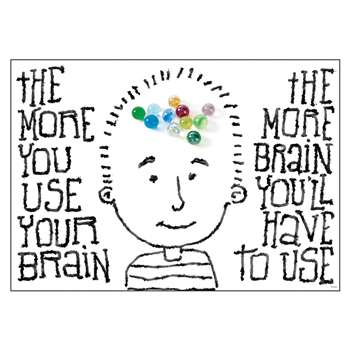 The More You Use Your Brain Poster By Trend Enterprises