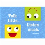 Talk Little Listen Much Poster By Trend Enterprises
