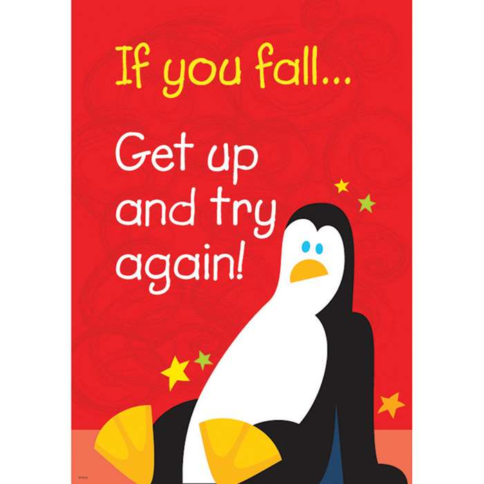 If You Fall Get Up And Try Again Poster By Trend Enterprises
