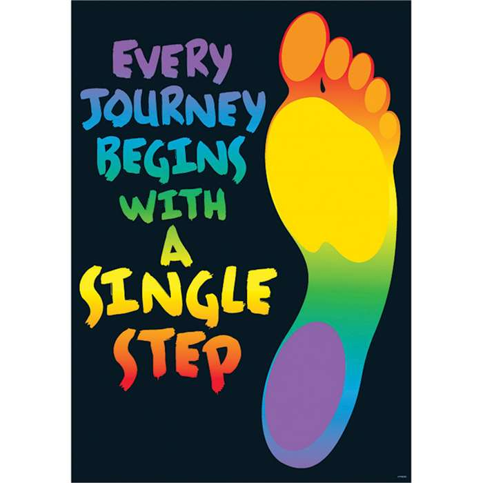 Every Journey Begins With Poster By Trend Enterprises