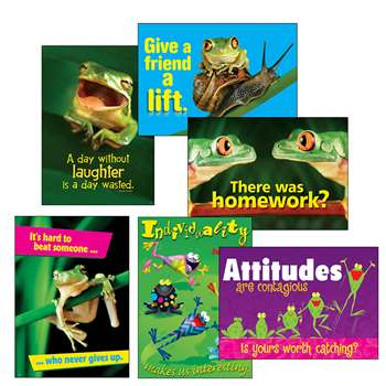 Awesome Attitude Frogs Combo Sets Argus Posters By Trend Enterprises