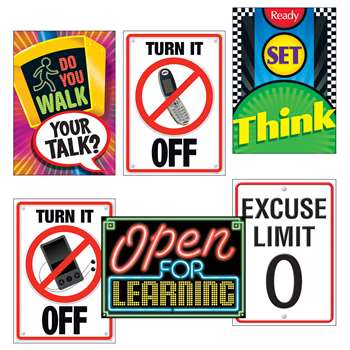 Learning Signs Combo Sets Argus Posters By Trend Enterprises
