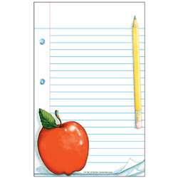 Notepad W/ Apple 50Sht 5X8 By Teacher Created Resources