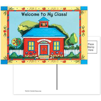 Schoolhouse Welcome 30Pk Postcards 4X6 By Teacher Created Resources