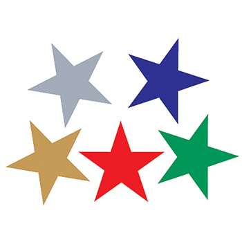 Foil Stickers Assorted Stars By Teacher Created Resources