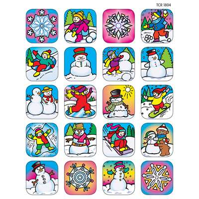 Stickers Winter By Teacher Created Resources