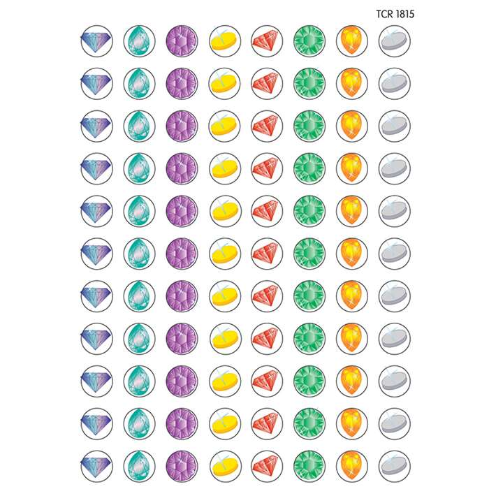 Mini Stickers Jewels 528Pk By Teacher Created Resources