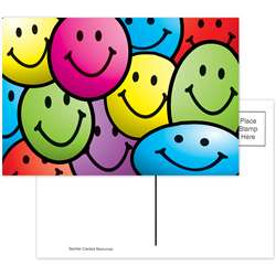 Smiley Faces Postcards 30Pk By Teacher Created Resources