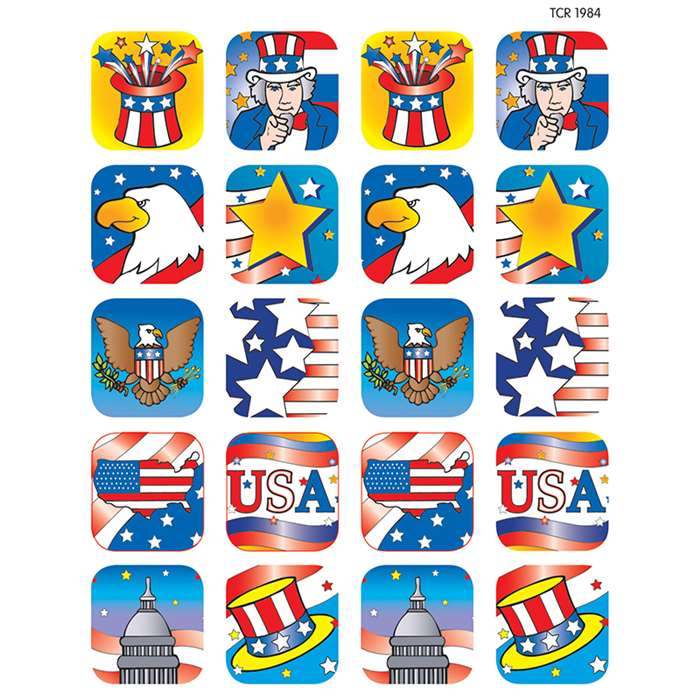 Patriotic 2 Stickers By Teacher Created Resources