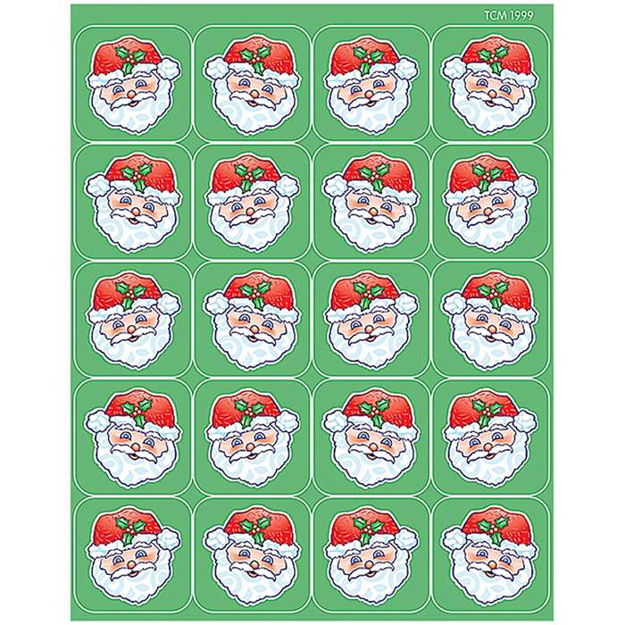Santa Stickers By Teacher Created Resources
