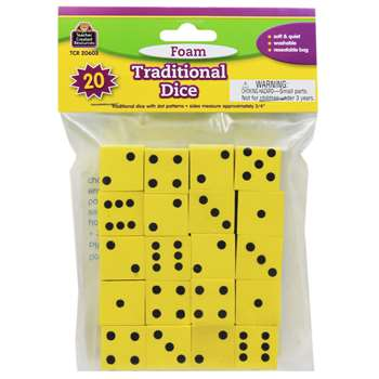 Foam Traditional Dice By Teacher Created Resources