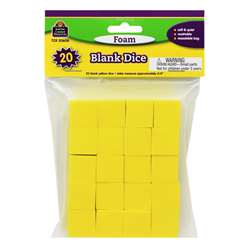 Foam Blank Dice By Teacher Created Resources