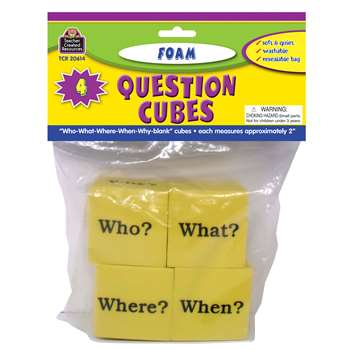 Foam Question Cubes By Teacher Created Resources