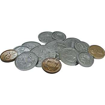 Play Money Assorted Coins By Teacher Created Resources