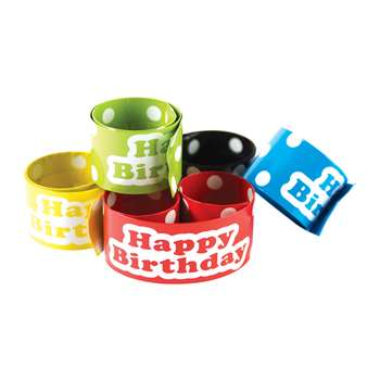 Slap Bracelets Polka Dots Happy Birthday, TCR20665