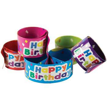 Slap Bracelets Happy Birthday Balloons, TCR20666