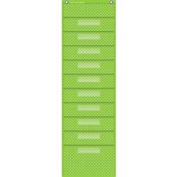 Lime Polka Dots 10 Pocket File Storage Pocket Char, TCR20737