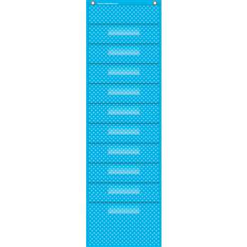 Aqua Polka Dots 10 Pocket File Storage Pocket Char, TCR20738