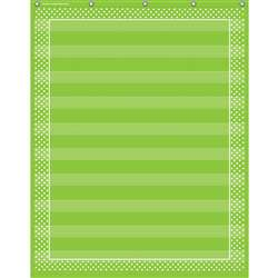 Lime Polka Dots 10 Pocket Chart, TCR20745